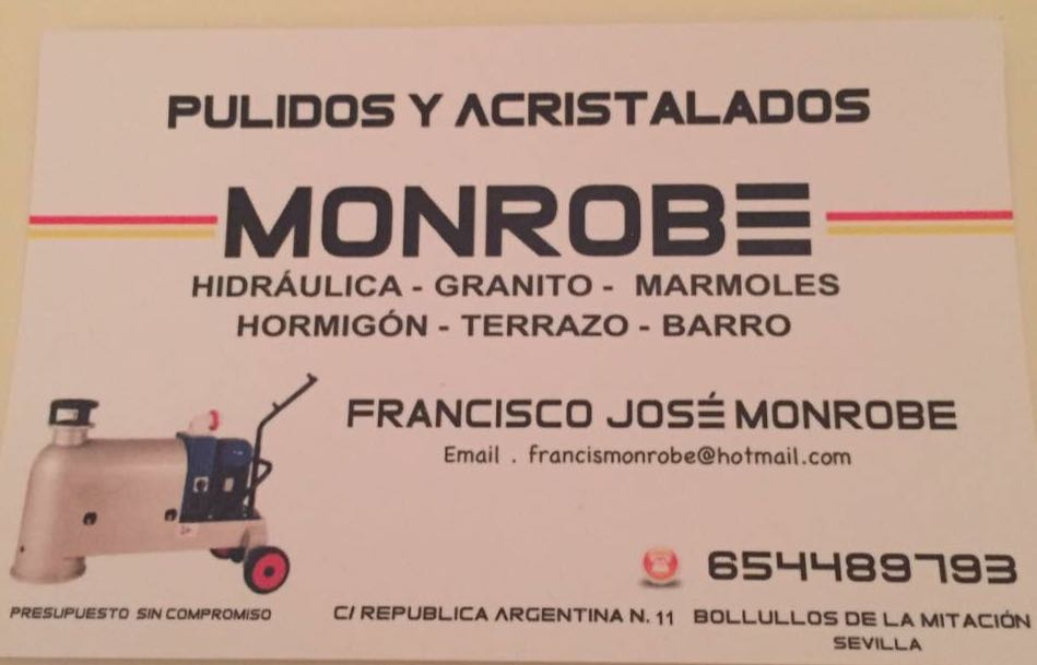 PULIDOS Y ACRISTALADOS MONROBE